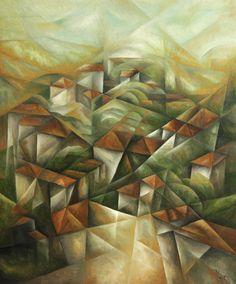 Landscape. Oil on canvas 110x140