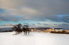 Winter sunrise at Beckov castle - my first winter sunrise at this meadow before Beckov Castle in Slovakia. My Photos, Sunrise, Castle, Explore, Facebook, Winter, Outdoor, Instagram, Winter Time