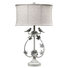 Romantic love birds table lamp.