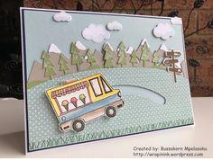 Tasty Trucks spinning card, by Bussakorn Mpelasoka