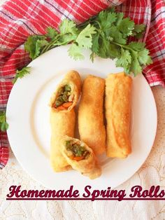 Chinese Vegetable Spring Rolls With Homemade Wrappers, now you will never buy ready made wrappers...plus save money too.