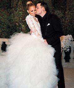 nicole richie in a marchesa wedding gown