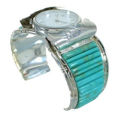 Southwestern Genuine Sterling Silver Turquoise Inlay Cuff Watch Bracelet !! Best Value Gift Item sold by AriFabish88. Shop more products from AriFabish88 on Storenvy, the home of independent small businesses all over the world.