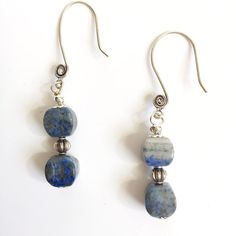 Blue and Silver Drop Earrings Blue and Silver by Immeasurablymore2
