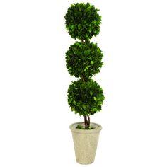 Lark Manor Triple Ball Topiary in Planter