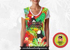 Fullprint Tropical Paradise, sublimacion textil frente. de bakasonlineshop en Etsy
