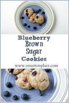 Blueberry Brown Sugar Cookies