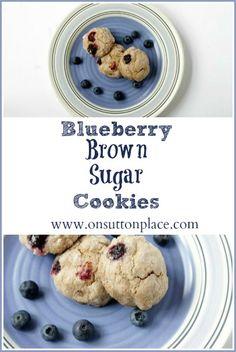 Blueberry Brown Sugar Cookies