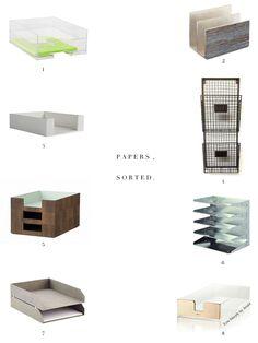 Stylish paper sorters--everyone needs!!