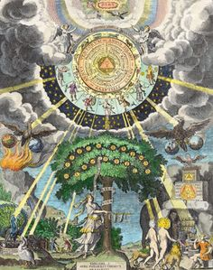 "The bible of the alchemists, The Emerald Table, is attributed to Hermes Trismegistus. It states that ""that which is above is like what is be..."