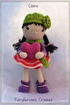 FairyGurumi's Crochet: Claire st valentin - amigurumi doll