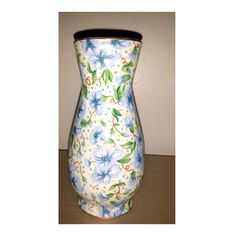 Chintz Ainsley Vase, Two's Company, Gold Gilt,Vintage,Blue Floral Chintz,Chintz Flower Vase,Blue Chintz,Porcelain Vase,Blue Flowers,Ainsley by JunkYardBlonde on Etsy