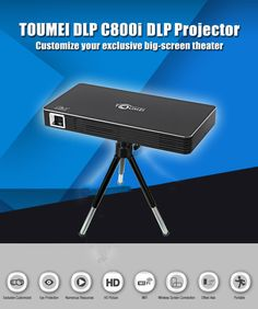 TOUMEI Multipurpose Multi connectivity DLP Home / Office Portable Projector - C800i  #techlaunches #buyatwebsite #CODINDIA #theimmart #3DaysDelivery #exclusive