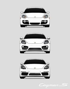 Porsche Cayman S Poster Print Wall Art of the History and Evolution of the Cayman Generations (Car Models: Automotive Group, Automotive Design, Cayman S, Car Posters, Automotive Photography, Performance Cars, Custom Cars, Cool Cars, Evolution
