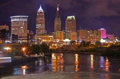 Cleveland, Oh Skyline @ Night