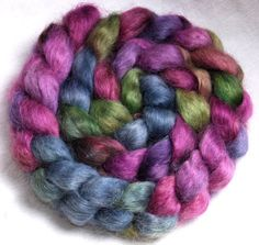 English TEESWATER handpainted top roving spin by YummyYarnsUK. - Ooh this looks so fine! Long Curly, Spinning, Sheep, Fiber, My Etsy Shop, Felt, Hand Painted, English, Wool