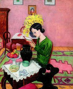 Reading and Art: Géza Vörös, In the room
