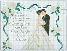 Punto de Cruz: Recien casados