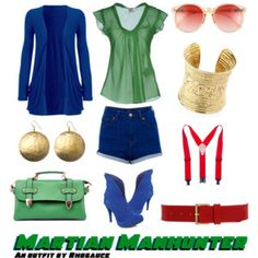 A wearable feminine #MartianManhunter #outfit I created, inspired by the #DCComics character. #geek #fashion
