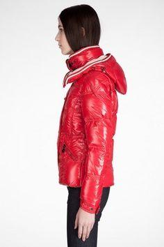 piumini Moncler Quincy modelli femminili rosso TAGLIA 0 1 2 3 4 (XS-XL 06b49f473fd