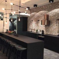 45 best kitchen interior design remodel ideas for your new year 41 Loft Industrial, Industrial Kitchen Design, Interior Design Living Room, Industrial Kitchens, Minimal Kitchen Design, Küchen Design, Layout Design, Design Ideas, Kitchen Furniture