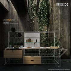 Tales from Interactive Media for Interior Design 2013-2014  Furniture: Valcucine/Demode, Meccanica– Gabriele Centazzo  Modeling and rendering by Federico Scremin.  Toys: 3DS Max, Maxwell render, Photoshop.