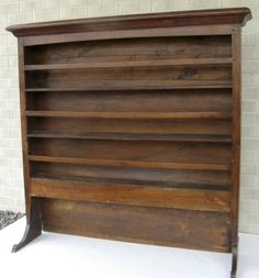 Wooden Plate Racks Wall Mounted | Antique 19C Victorian pine dresser ...
