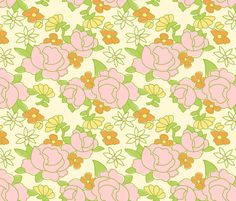 vintage5 fabric by kategabrielle on Spoonflower - custom fabric