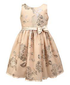 Loving this Blush Silver Sequin Sleeveless Dress - Toddler & Girls on #zulily! #zulilyfinds