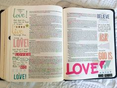 She explains how she started bible journaling and what supplies she uses.