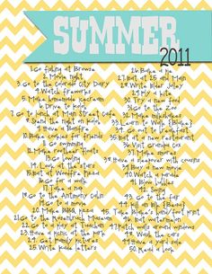 Lovely Little Snippets: our {SUMMER} list