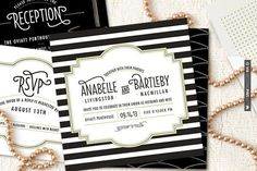 So cool! - Great Gatsby inspired wedding invites from Minted! (Plus a giveaway!) | CHECK OUT MORE GREAT BLACK AND WHITE WEDDING IDEAS AT WEDDINGPINS.NET | #weddings #wedding #blackandwhitewedding #blackandwhiteweddingphotos #events #forweddings #iloveweddings #blackandwhite #romance #vintage #blackwedding #planners #whitewedding #ceremonyphotos #weddingphotos #weddingpictures