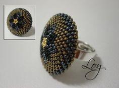 Lorea Seed Bead Jewelry, Beaded Jewelry, Seed Beads, Beading Tutorials, Beading Patterns, Handmade Rings, Handmade Jewelry, Beaded Rings, Beaded Bracelets