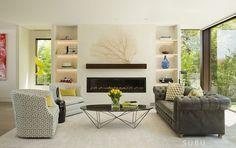Offene Raumgestaltung in hellen Farben - Luxus Strandhaus