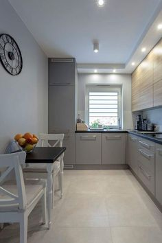 surprising small kitchen design ideas and decor 1 « A Virtual Zone Narrow Kitchen, Ikea Kitchen, Kitchen Furniture, Kitchen Dining, Kitchen Decor, Kitchen Cabinets, Kitchen Ideas, Kitchen Walls, Cuisines Design