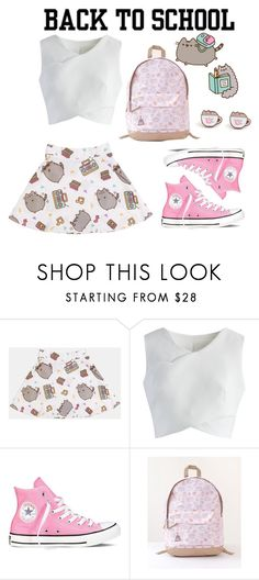 """""""#PVxPusheen"""" by gabyfashion11 ❤ liked on Polyvore featuring Pusheen, Chicwish, Converse, contestentry and PVxPusheen"""