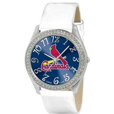 Game Time Women's MLB St. Louis Cardinals Glitz Watch, Silver