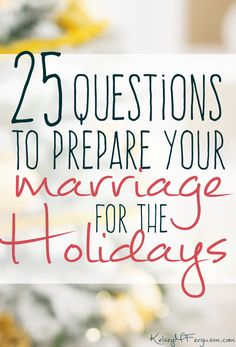 Check out these 25 discussion questions to help you and your spouse prepare your marriage for the holidays. Healthy Marriage, Marriage Life, Marriage Advice, Love And Marriage, Christian Wife, Christian Marriage, Event Planning Tips, Wedding Planning, Love Is A Choice
