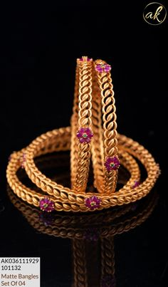 Gold Bangles Design, Gold Earrings Designs, Gold Jewellery Design, Gold Wedding Jewelry, Gold Jewelry Simple, Antique Jewellery Designs, Indian Gold Bangles, Collections, Blouse