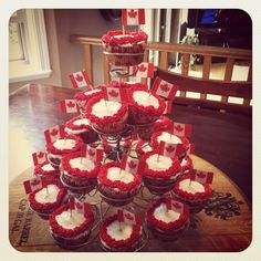 Canada Day cupcakes !