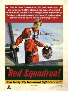 Red Squadron - Star Wars propaganda style art by Cat Staggs