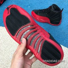 the best attitude 7f4fa 02566 Aj12 Black Red Size Air Jordan 12 On Flu Game Aj12 Black And Red Collapsed  In 130690-130690