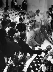 Mourners bid farewell to slain NAACP official Medgar Evers at his funeral, Jackson, Miss., June Civil rights activist involved in efforts to overturn segregation at univ.of Mississippi. Black History Facts, Black History Month, Civil Rights Movement, We Are The World, African Diaspora, African American History, World History, Black People, Just In Case
