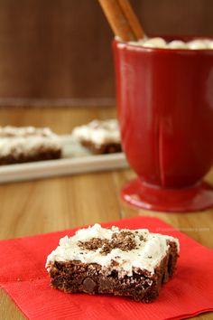 Mexican Hot Chocolate Brownie Cookie Bars | www.chocolatemoosey.com (for Fiesta night)