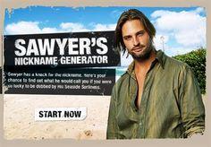 Lost TV show: Sawyer's Nickname Generator