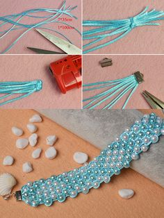 Wanna the wide pearl beads bracelet?The making details will be published by LC.Pandahall.com
