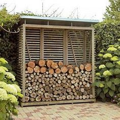 wood pile shed