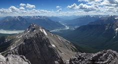 The summit of Roche De Smet is a fantastic viewpoint to take it in the beauty of Jasper National Park. Jasper National Park, National Parks, Destinations, Parks Canada, Canadian Rockies, Mount Everest, Journey, Mountains, Landscape