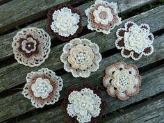 Crochet flowers #crochetflowers #boho #rustic #vintage