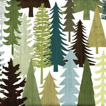 Wall mural - Woodland Trees